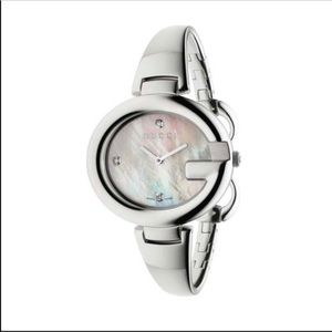 Gucci Guccissima diamond mother of pearl watch